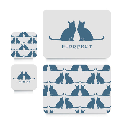 Coaster or Placemat - Purrfect Cats