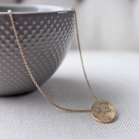 Hand Made Constellation Zodiac Sign Necklace