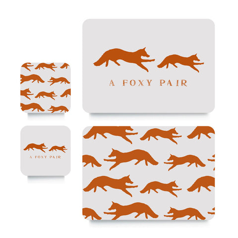Coaster or Placemat - Mr Fox Orange