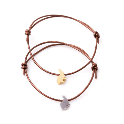 Hare Leather Adjustable Bracelet