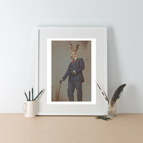 Ben Rothery Unframed Print - Hare