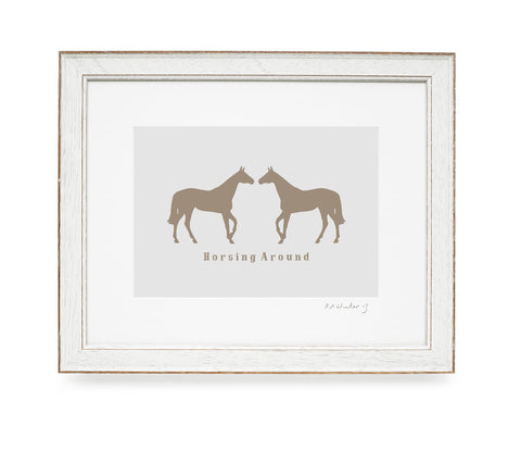 Horsing Around Print