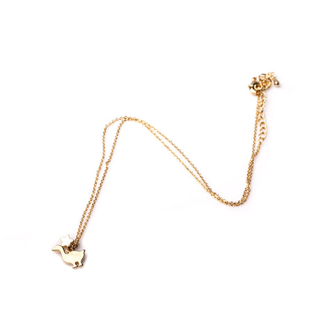 Duck Necklace - Gold