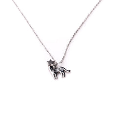 Cat Necklace - Silver