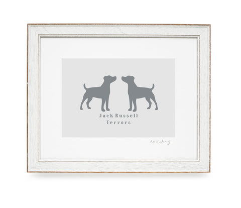 Jack Russell Terrors Print