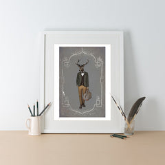 Ben Rothery Unframed Print - Stag
