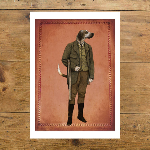 Ben Rothery Unframed Print - Dog