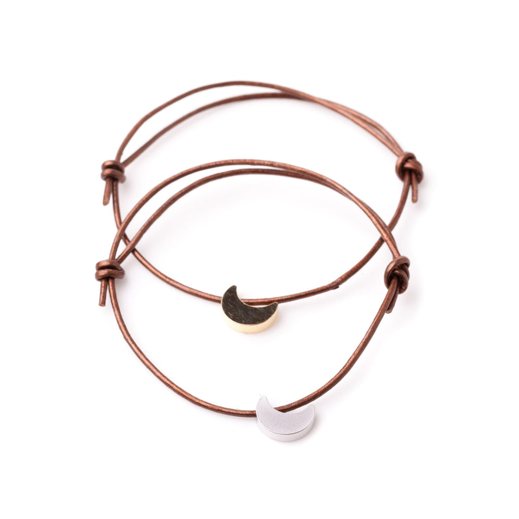 Moon Leather Adjustable Bracelet