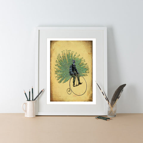 Ben Rothery Unframed Print - Peacock