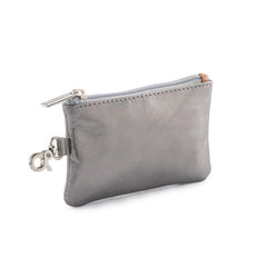 Leather Coin Purse - Pewter