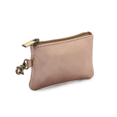 Leather Coin Purse - Rose Gold