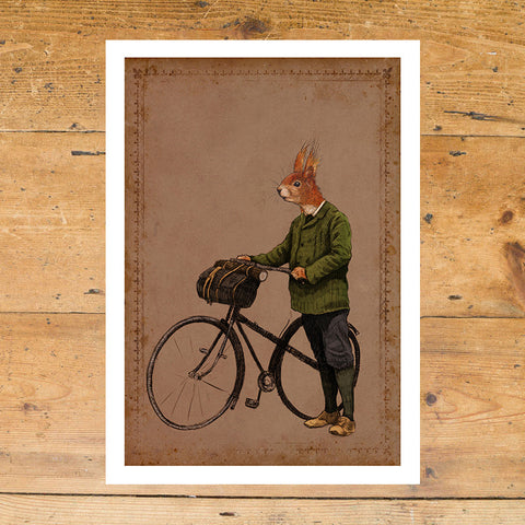 Ben Rothery Unframed Print - Squirrel