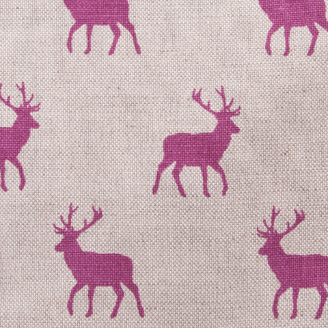 Oil Cloth Stag Pink Linen Fabric