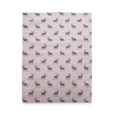 Stag Grey Tea Towel