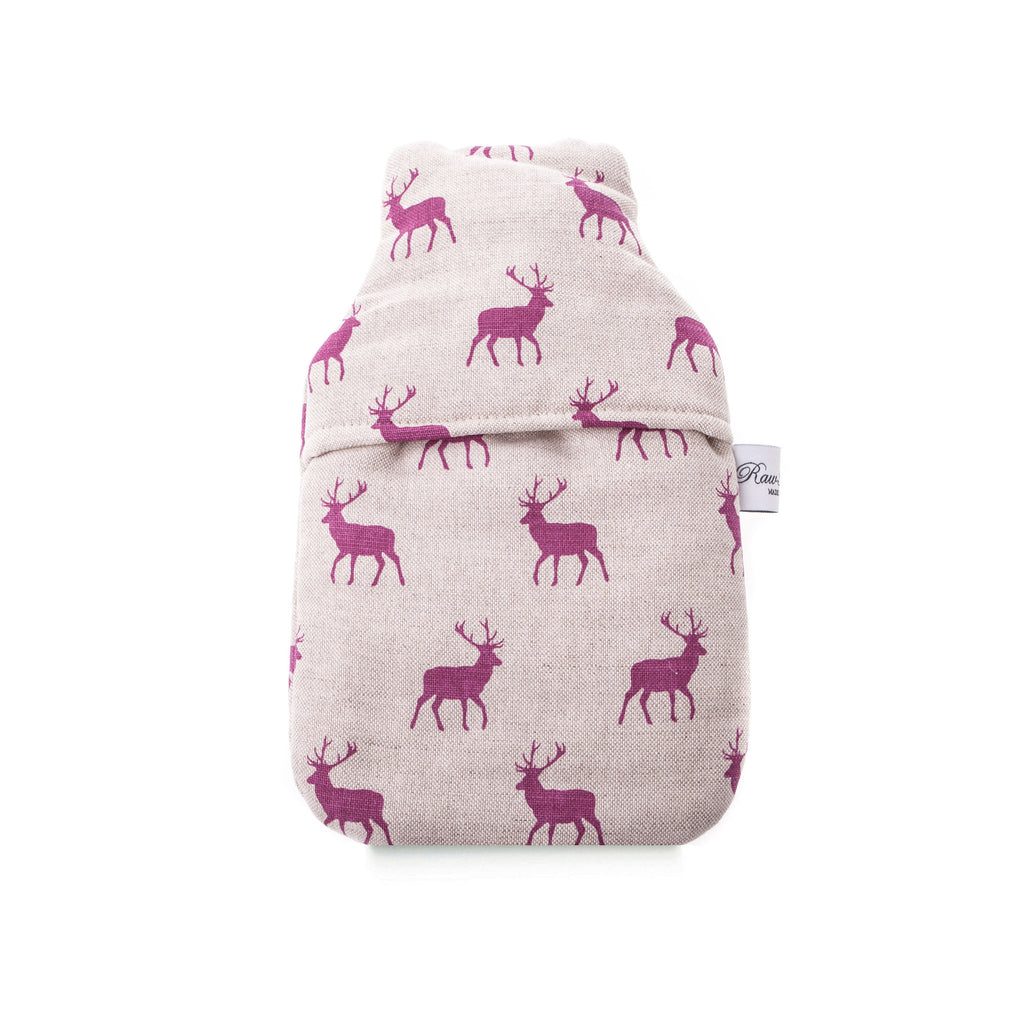 Stag Pink 1 Litre Hot Water Bottle