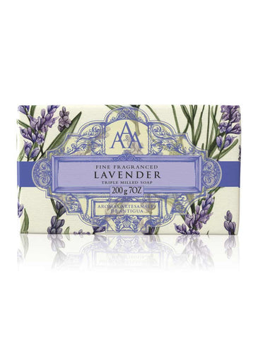 Wrapped Floral Soap Bar - Lavender