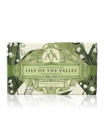 Wrapped Floral Soap Bar - Lily of the Valley