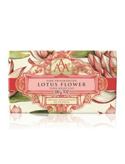 Wrapped Floral Soap Bar - Lotus Flower