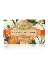 Wrapped Floral Soap Bar - Orange Blossom