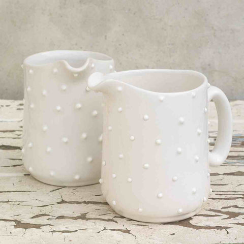 Dotted Ceramic Jug