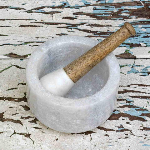 Marble Pestle and Mortar
