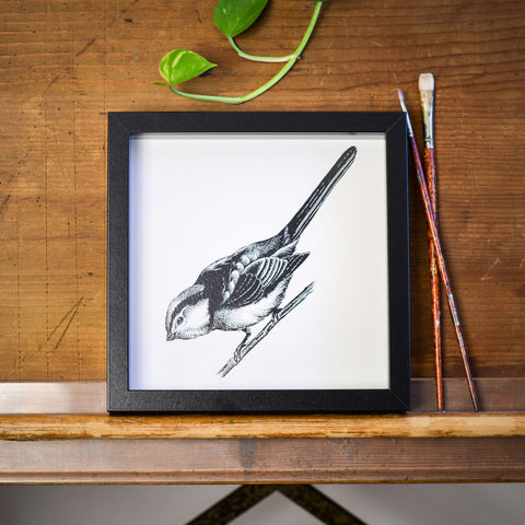Long-tailed Tit Print by Die Monde