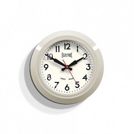 The Small 'Electric' Wall Clock - Cream