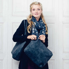 Charcoal Faux Suede Bag within a Bag