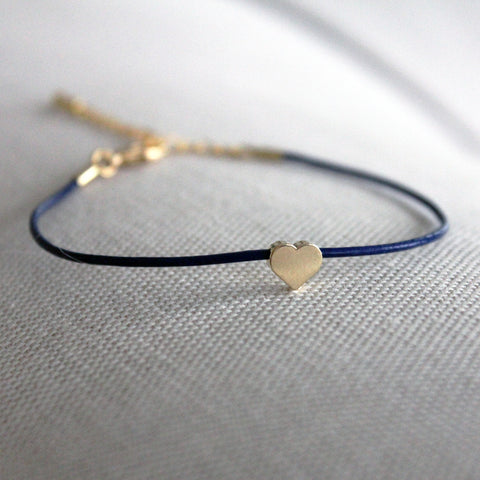 Heart Leather Adjustable Bracelet
