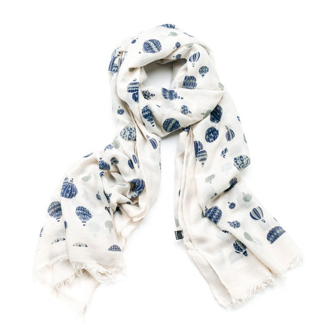 Gift Boxed Hot Air Ballons Scarf