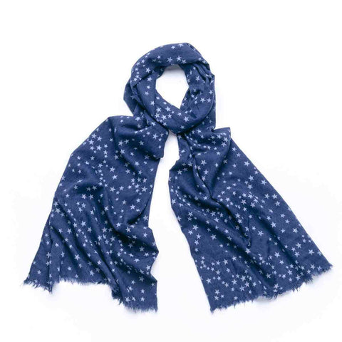 Gift Boxed Starry Sky Scarf - Dark Blue