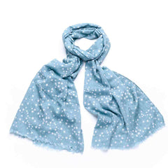Gift Boxed Starry Sky Scarf - Light Blue