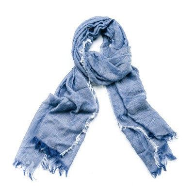 Feathered Scarf - Denim