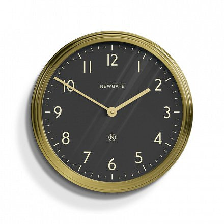 The Spy Wall Clock - Brass