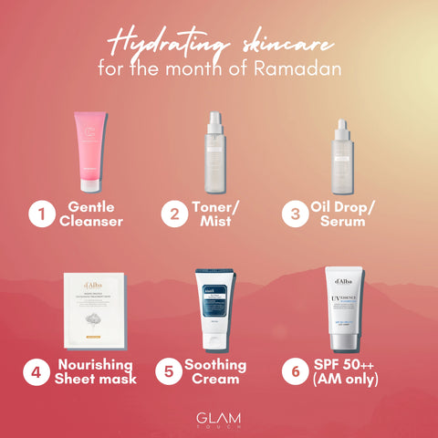 Top hydrating Korean skincare products for Ramadan