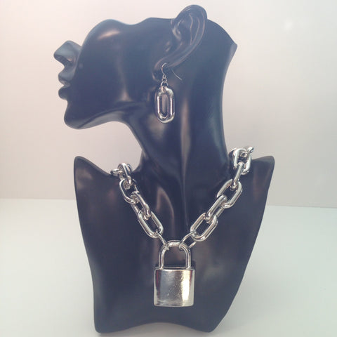 Silver Necklace & Earrings Set