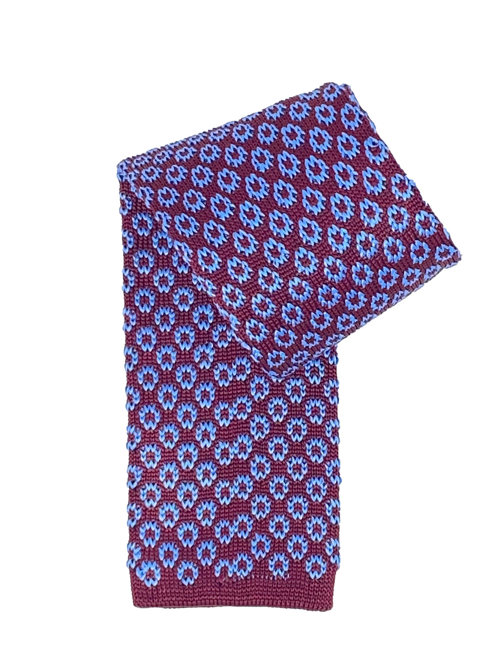 RED/BLUE KNIT TIE - ELI•ROSCOE