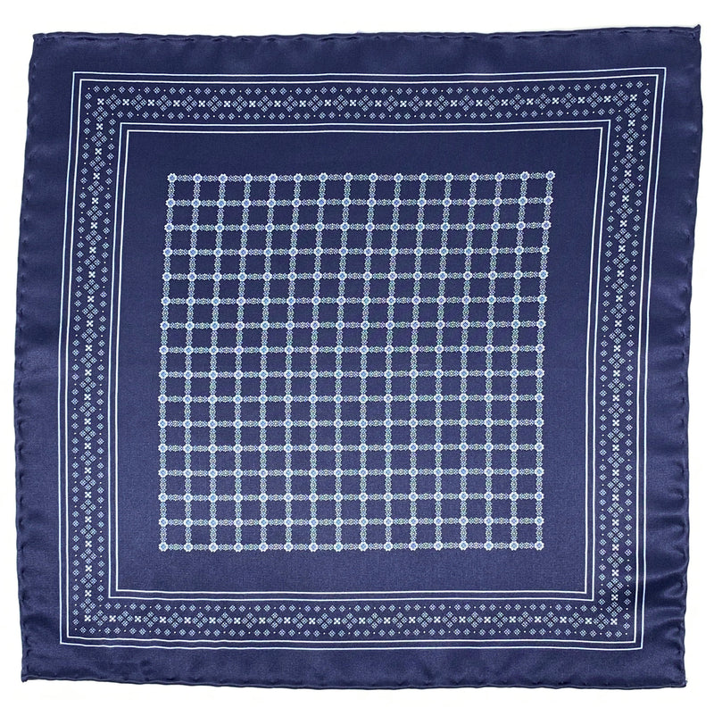 Pocket Square, Navy/Light Blue - ELI•ROSCOE