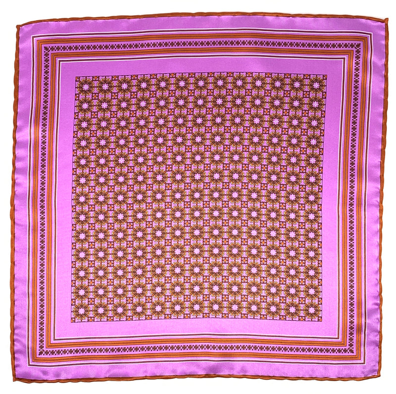 Pocket Square, Purple/Copper - ELI•ROSCOE