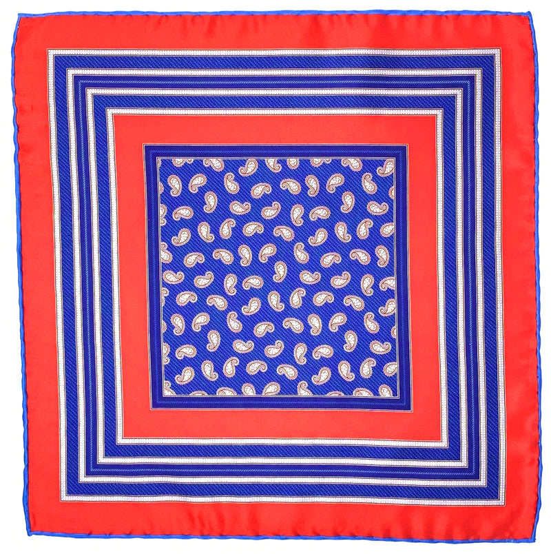 Pocket Square, Red/Blue - ELI•ROSCOE