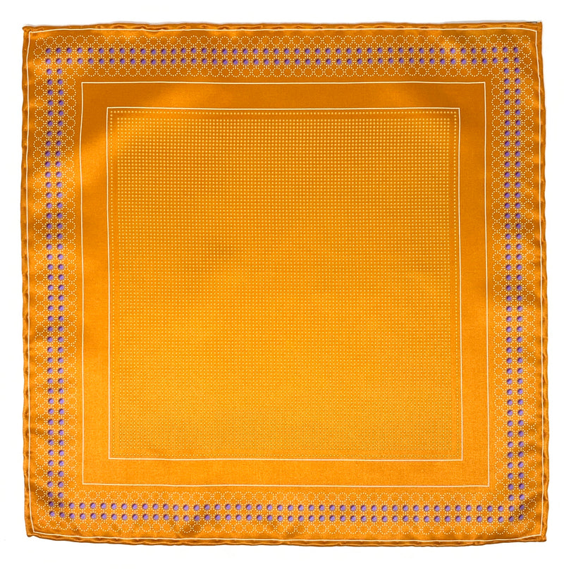 Pocket Square, Orange/Purple - ELI•ROSCOE