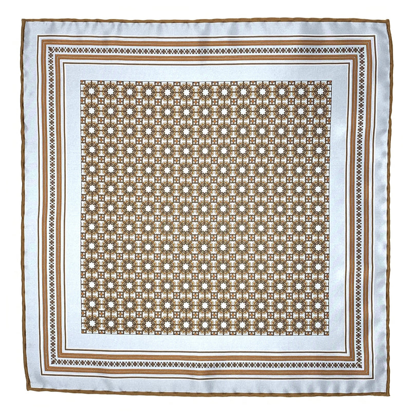 Pocket Square, Grey/Brown - ELI•ROSCOE