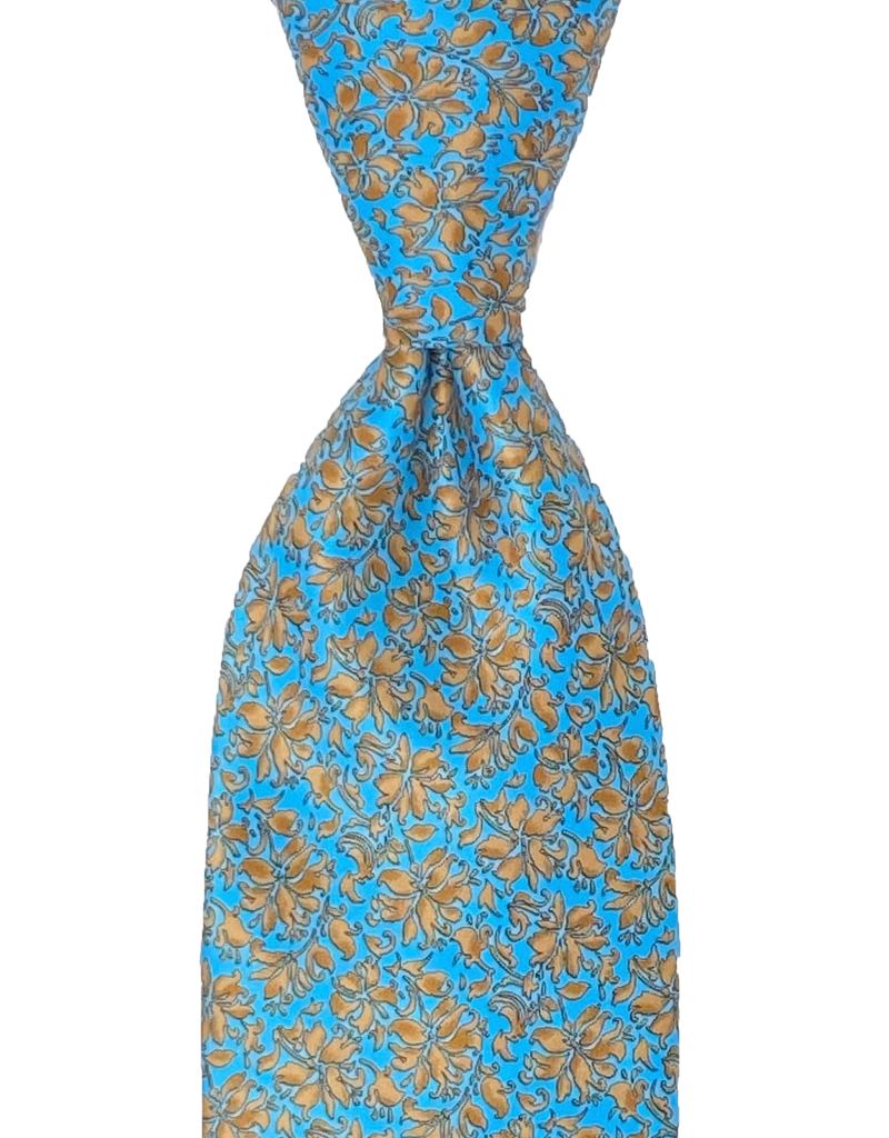 HANDPAINTED SILK TIE (YELLOW)