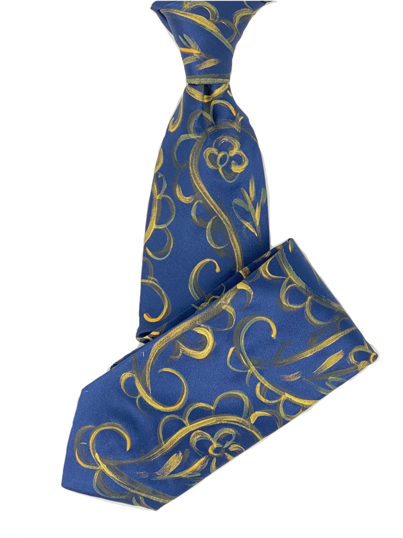 HANDPAINTED SILK TIE (YELLOW) - ELI•ROSCOE