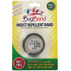 Insect Repelling Band 120 Hours (Bugband) Black