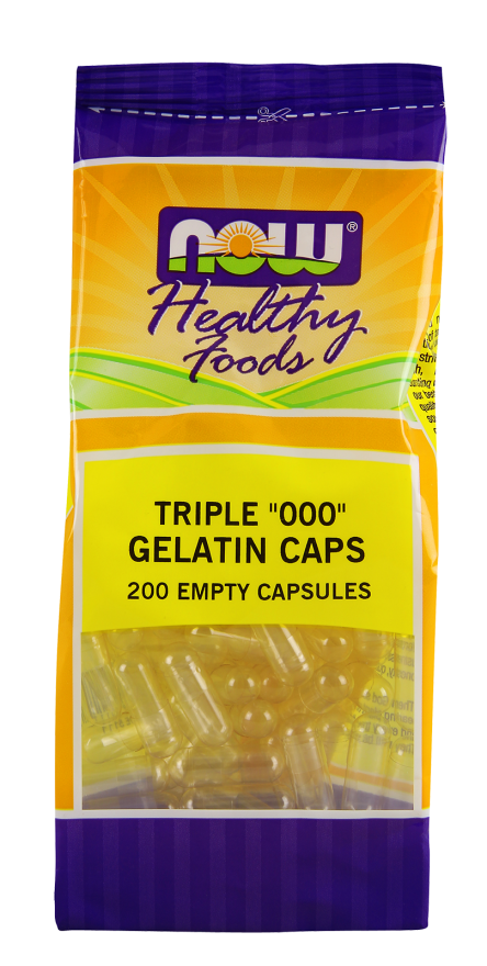 EMPTY GEL CAPS '000' (NOW)