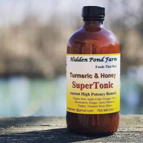 TURMERIC & HONEY SUPERTONIC 9OZ (HIDDEN POND FARM)