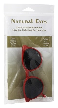Kids Natural Eyes Pinhole Glasses And Book (Red)