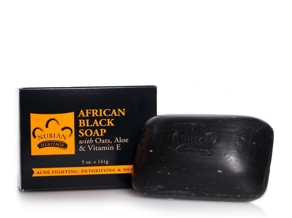 African Black Soap Bar (Nubian Heritage)