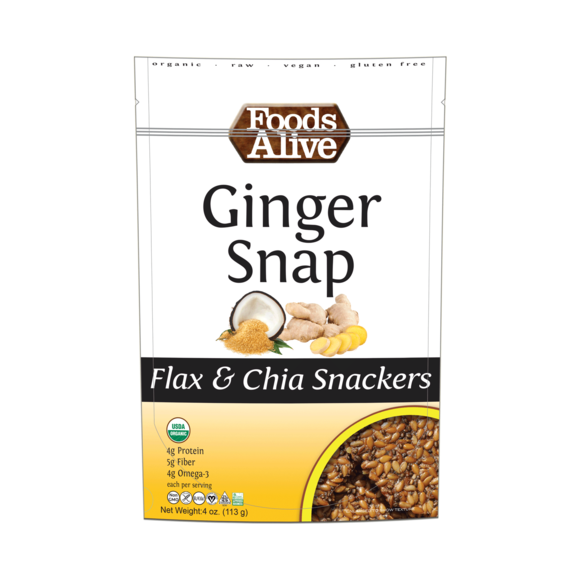 Flax Crackers Ginger Snap Flax (Foods Alive)